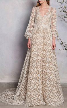 Luisa Beccaria Bridal Spring Summer 2016 Look 1 on Moda Operandi