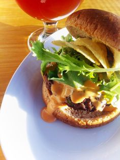 Stuffed blue cheese burgers with buffalo sauce