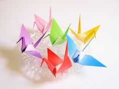Origami Cranes 48 Large Origami Paper Crane Japanese by KaoriCraft
