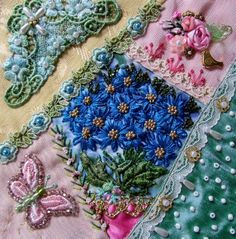 I ❤ crazy quilting, beading & ribbon embroidery . . . Barbara Nicki Seavey, Block for Claudia Skal