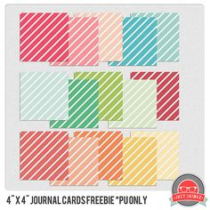 Free 4x4 Journal Cards by justjaimee for The Heartistic Project Color Inspiration