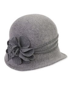 9f15b5ca2cf Another great find on Gray Flower Wool-Blend Cloche by ADORA