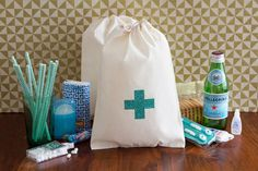 Hangover Kit Welcome Bags: Don't let the morning after your big night drag you or your bride tribe down. These hangover kit bags are a bachelorette party must-have. Fill them with all the hangover essentials and we promise your girls will be thanking you the next day. | via @etsy