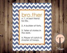 Brother Art, Boys nursery art, boys room art, brothers, brother, digital art,too cute