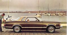 1976 Ford Granada -- This was my fifth car, my mom car cuz I got it after I had my daughter. No more race cars when you become a mom, I guess. Mine was this exact same coloring. It was a nice car.