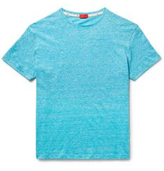Space-Dyed Knitted Linen and Cotton-Blend T-Shirt | MR PORTER