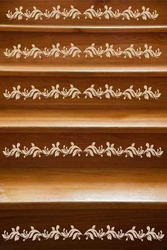 Revamp Staircase Design with Easy Stencil Decoration Patterns and Painting Ideas