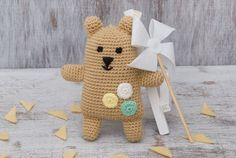 Fantasy bear Baby bear toy Crochet brown bear by SmallDreamers Doll Toys, Dolls, Brown Babies, Crochet Bear, Bear Toy, Plush Animals, Brown Bear, Handmade Toys, Gifts For Kids