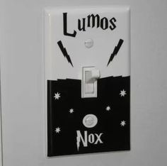 Harry Potter Lumos Nox Light Switch Wall Decal