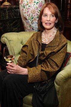 Gloria Vanderbuilt, Donna Mills, Anderson Cooper, Gone Girl, New Wife, Business Icon, Costume Institute, Metallic Dress, Vogue Magazine