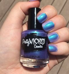 Hey, I found this really awesome Etsy listing at https://www.etsy.com/listing/281485228/bluepurple-thermal-nail-polish-daphne