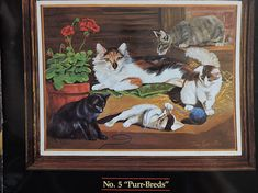 Your place to buy and sell all things handmade Needlepoint Patterns, Cross Stitch Patterns, The Barnyard, Mother Cat, Costume Patterns, Dmc Floss, Cool Patterns, Needlework, Kittens