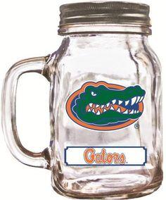 NCAA Florida Gators 20oz Mason Jar