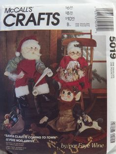 McCall's 5019 Santa, Mrs. Clause or Elf Doll and Clothes