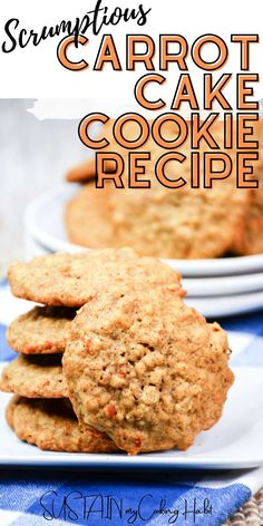 If you love the taste of carrot cake, then you'll be sure to also love these deliciously scrumptious carrot cake cookies. Loaded with the same tasty goodness, these cookies are a nice alternative to a classic carrot cake recipe. Carrot Cake Cookies, No Bake Cookies, Yummy Cookies, Fun Desserts, Delicious Desserts, Dessert Recipes, Classic Carrot Cake Recipe, Rhubarb Muffins, Christmas Cookie Exchange
