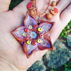 Ceramic flower  #Ukraine #kramatorsk #artstudio #flowers #nature #ceramics #pottery #potterystudio #ceramicart #ceramica #neckless…
