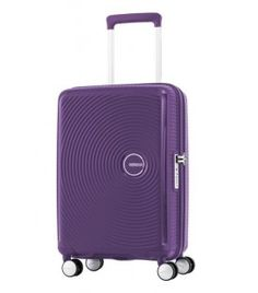 American Tourister - Curio 21.5'' zippered spinner carry-on luggage - Polypropylene - Purple