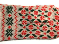 Latvian traditional knitted mittens