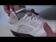 Video of the Air Jordan 5 Fire Red 2013  http://www.sneakerfiles.com/