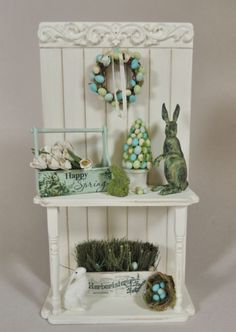 Happy Spring - 1/12 Scale Vignette - Click Image to Close