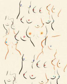 Breasts print by Amanda Laurel Atkins Minimalist Drawing, Minimalist Art, Arte Fashion, Paper Fashion, Body Drawing, Art Sketchbook, Female Art, Art Inspo, Line Art