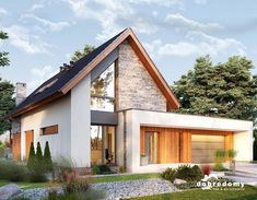 This excellent photo most certainly is an inspiring and exceptional idea Modern Bungalow Exterior, Modern Farmhouse Exterior, Minimal House Design, House Construction Plan, German Houses, Bungalow Renovation, Kerala Houses, Industrial House, Facade House