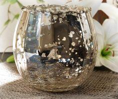 $6 each Mercury Glass Candle Holder  & Bowl 4x5