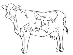 Cow coloring pages printable - ColoringStar Cow Painting, Painting & Drawing, Paper Drawing, Watercolor Animals, Watercolor Art, Line Drawing, Drawing Sketches, Cow Sketch, Cow Coloring Pages