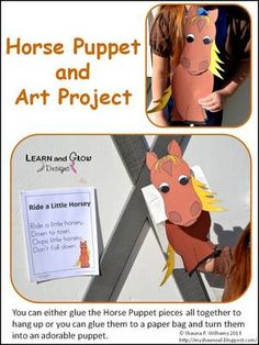 Horse Puppet and Art Project with Nursery Rhyme Poster from LearnandGrowDesigns on TeachersNotebook.com (8 pages)