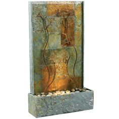 Kenroy Copper Vines Floor Outdoor Fountain - Fountains at Hayneedle