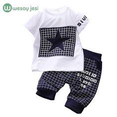 7af0555310c003 Baby boy clothes 2016 Brand summer kids clothes sets t-shirt+pants suit  clothing