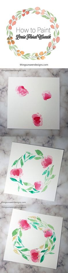 46 ideas drawing simple flowers canvases for 2019 Easy Flower Drawings, Easy Drawings, Drawing Flowers, Floral Watercolor, Watercolor Paintings, Watercolors, Watercolor Ideas, Art Floral, Lettering Design