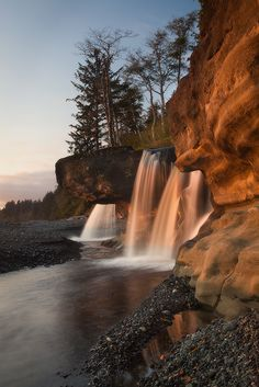 Sandcut Beach Falls : Jordon River, Vancouver Island, British Columbia, Canada : Photography by Adam Gibbs Vancouver Island, Canada Vancouver, Vancouver City, Vancouver British Columbia, Backpacking Canada, Canada Travel, Canada Canada, Lakes, Waterfalls