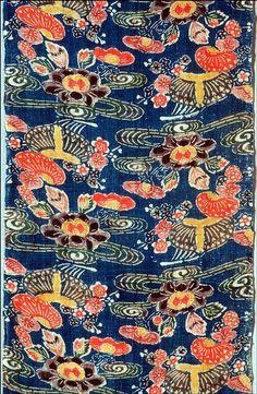 Bingata fragment, mid- to late-1800s, ramie, dyes and pigments bingata on plain weave ground, artist unknown, Japanese (Okinawa)
