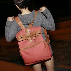@Lauren Adams a more lady-ish backpack (to wear with a sweater and no pants like this asian hipster girl)