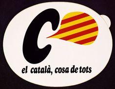 Adhesiu. Campanya que va impulsar la normalització del català (Biblioteca de Catalunya) Ephemera, Company Logo, Logos, Logo