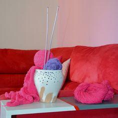 FARE LA MAGLIA - KNITTING Vaso smaltato con fori e incisioni - glazed vase with holes and scratches