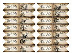 Printable alice in wonderland tea bag holder envelope printable printable alice in wonderland tea bag holder envelope printable hobby crafting scrapbooking instant download digital collage sheet vd0350 pronofoot35fo Images