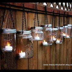 I've been enjoying candles lately. This is a pretty, simple, and cheap idea. This will definitely be a project of mine soon.