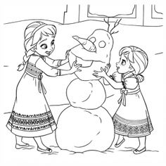 Frozen Movie Free Printable Coloring Pages Elsa Anna Olaf
