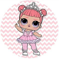 Baby a Live Girls Birthday Party Themes, 6th Birthday Parties, Lol Doll Cake, Cupcake Toppers Free, Kids Background, Fox Toys, Bee Art, Doll Party, Bottle Cap Images