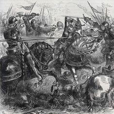 Death of King Richard III at the Battle of Bosworth Field on August 1485 in the Wars of the Roses Vector Graphics, Vector Art, Battle Of Bosworth Field, Waterloo 1815, Tudor Dynasty, Wars Of The Roses, King Richard, Military History, Vector Design
