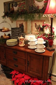 Christmas in the Kitchen of 21 Rosemary Lane