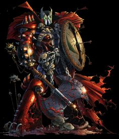 Medieval Spawn Rocks too! Comic Book Characters, Comic Book Heroes, Comic Character, Comic Books Art, Spawn Comics, Marvel Comics, Anime Comics, Cosmic Comics, Todd Mcfarlane