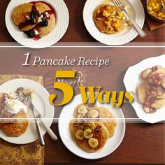 Whole-Grain Buttermilk Pancakes: pile your plate high with our 100%-whole-wheat buttermilk pancakes, then jazz them up with one of these quick and easy toppers: http://www.midwestliving.com/recipe/whole-grain-buttermilk-pancakes/