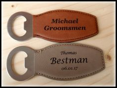 Bottle Opener Leather Bottle Opener by BPLaserEngraving on Etsy Handmade Accessories, Handmade Items, Handmade Products, Etsy Handmade, Handmade Gifts, Engraved Picture Frames, Picture Engraving, Customized Gifts, Personalized Gifts