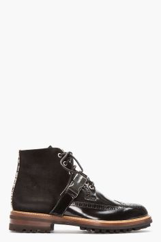 Black Shearling-Lined DSQUARED2 Boots