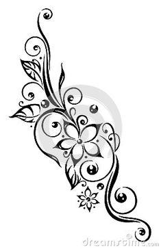 tribal flowers borders - Căutare Google