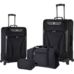 cool Vacationers Membership Baggage Augusta four Piece Softside Spinner Baggage Set NEW