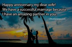 Beautiful wedding anniversary wishes status for wife in English. These romantic lines will make her day more special. Marriage anniversary status for whatsapp fb Anniversary Wishes For Wife, Marriage Anniversary, Anniversary Funny, Fb Status, Romantic, Facebook, Modern, Funny Birthday, Trendy Tree